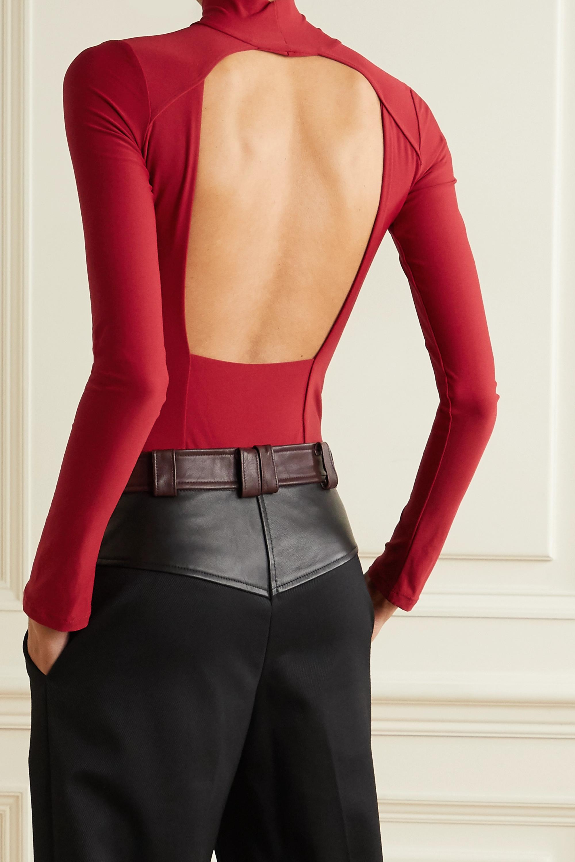 Alix NYC Libby open-back stretch-jersey thong bodysuit