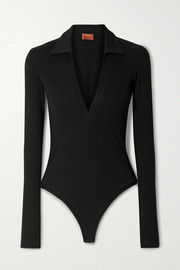 Alix NYC Monterey ribbed stretch-modal jersey thong bodysuit