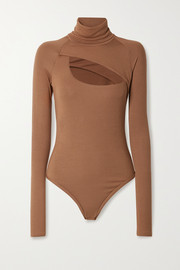 Alix NYC Carder cutout ribbed stretch-modal jersey thong bodysuit