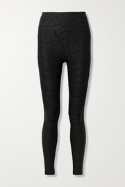 TWENTY Montréal 3D Cracked Earth textured stretch-nylon leggings