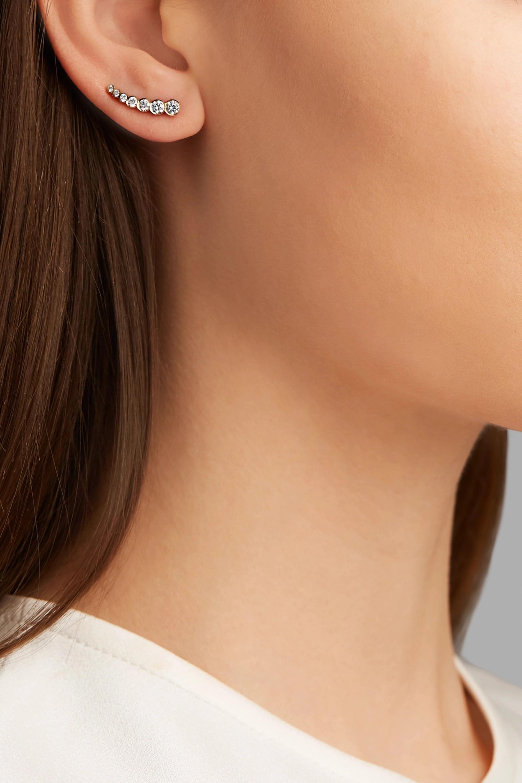 Sophie Bille Brahe Petite Croissant de Lune 18-karat gold diamond earring