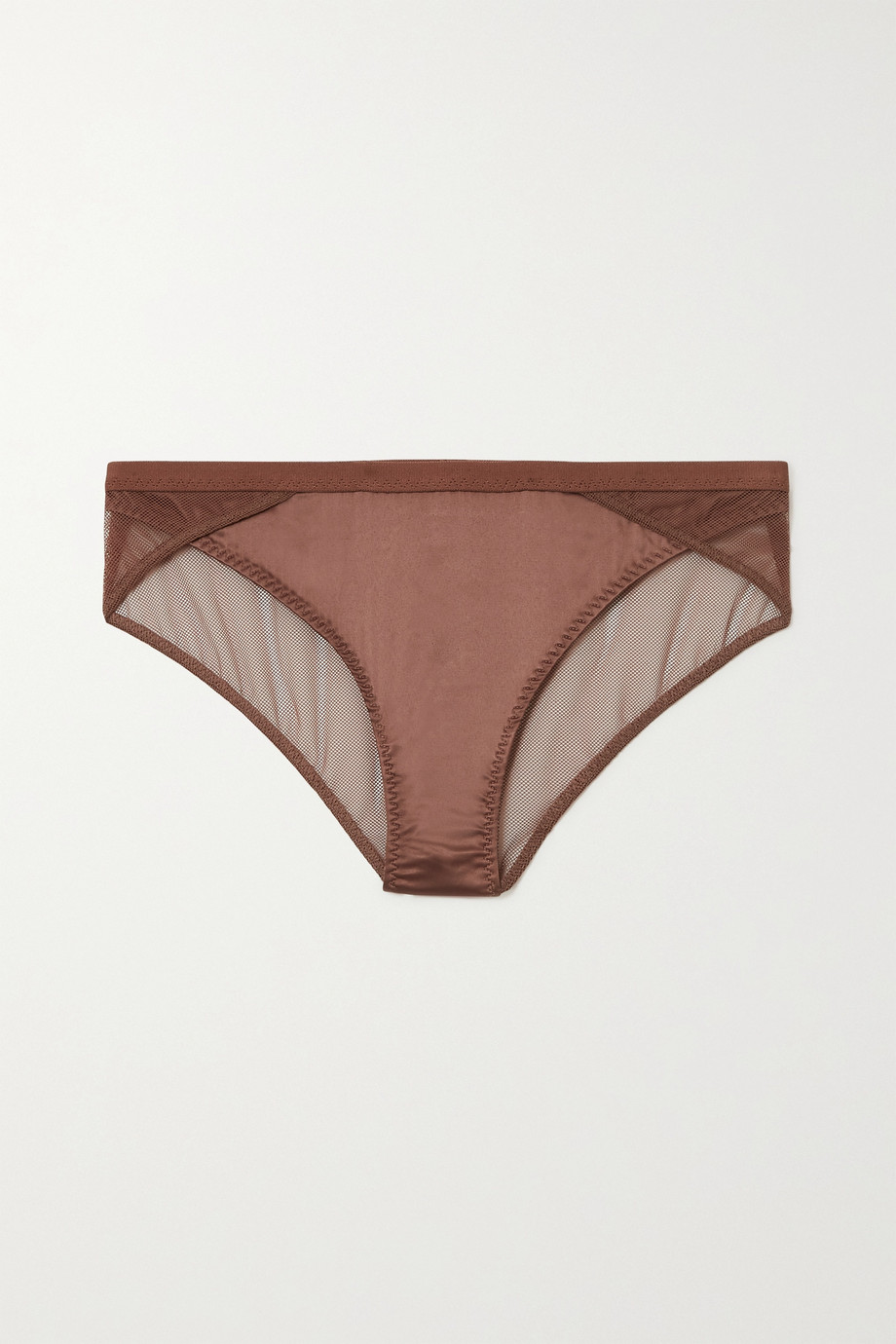 Love Stories Lara satin and stretch-tulle briefs