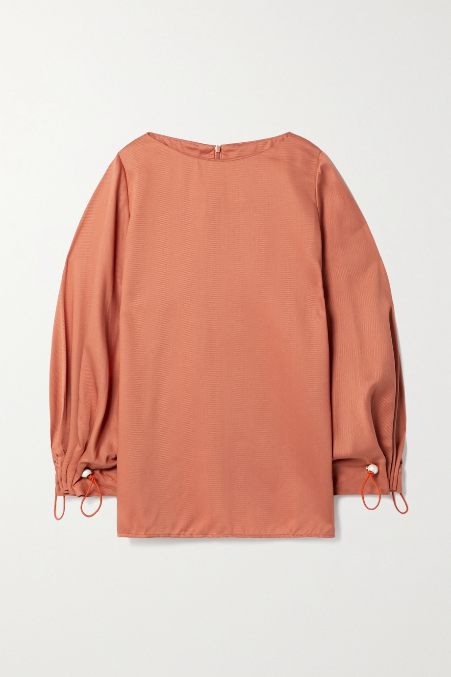 Mother of Pearl Pixie faux pearl-embellished Lyocell-twill top