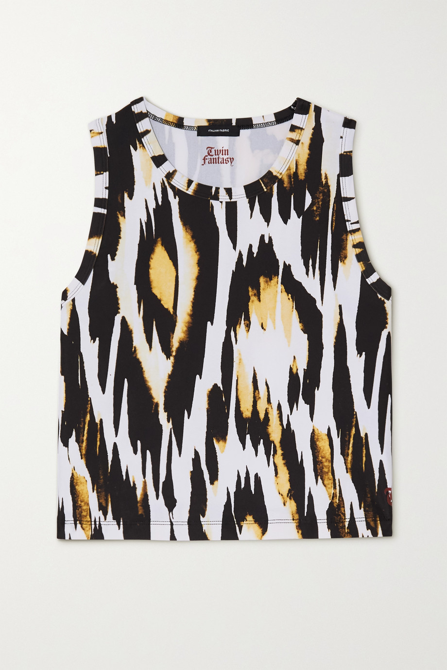 Twin Fantasy Cropped animal-print stretch tank