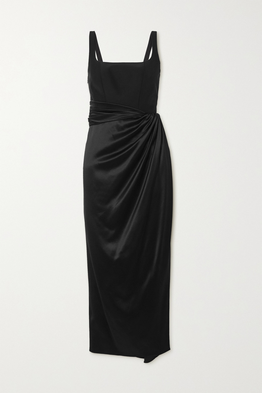 Brandon Maxwell Wrap-effect stretch-silk and silk-satin midi dress