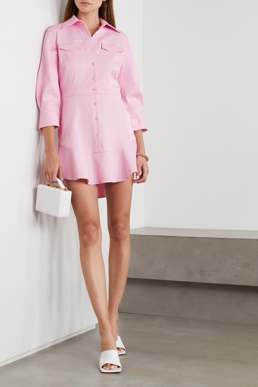 Brandon Maxwell Cotton-blend piqué mini shirt dress