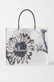 Alaïa Leather-trimmed jacquard tote