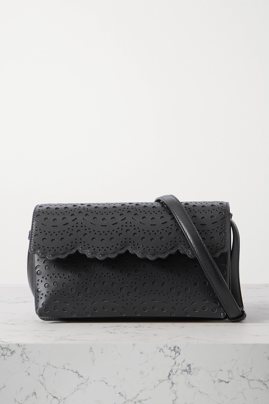 Alaïa Lulu medium laser-cut leather shoulder bag