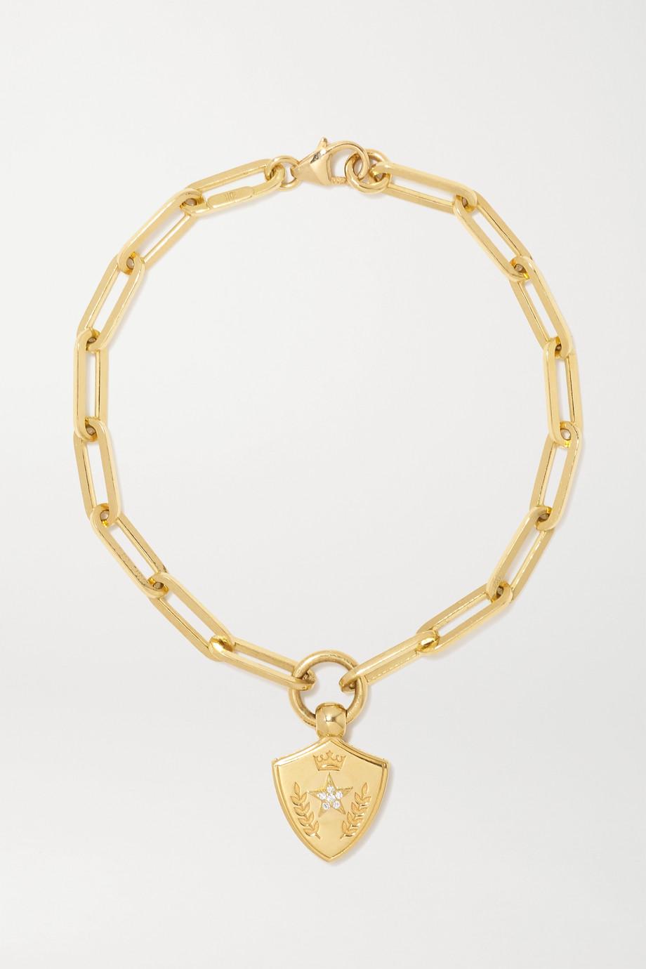 Foundrae Bracelet en or 18 carats (750/1000) et diamants Per Aspera Ad Astra