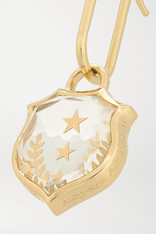 Gold Per Aspera Ad Astra 18-karat Quartz Earring | Foundrae