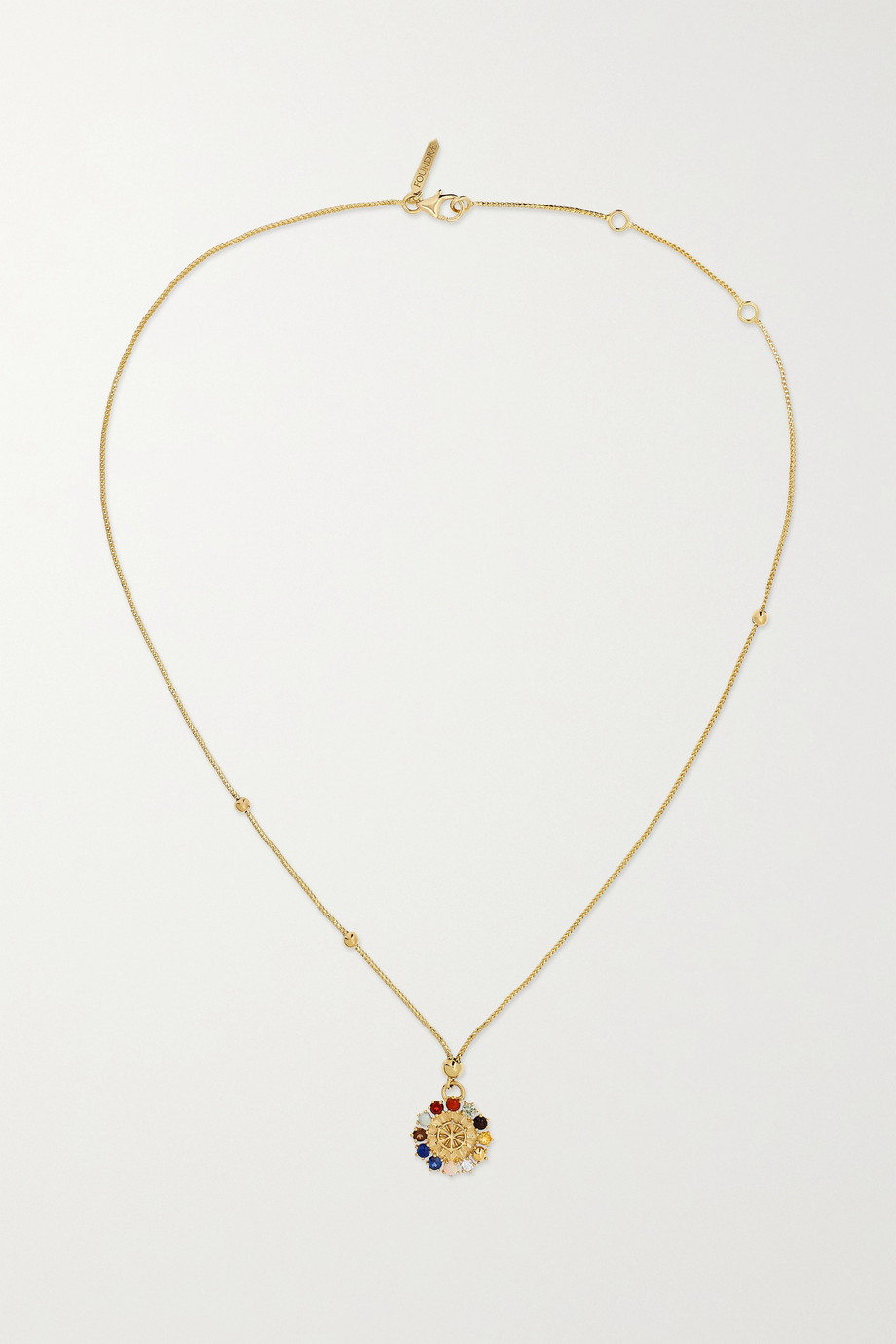 Foundrae Collier en or 18 carats et pierres multiples Aether Mini