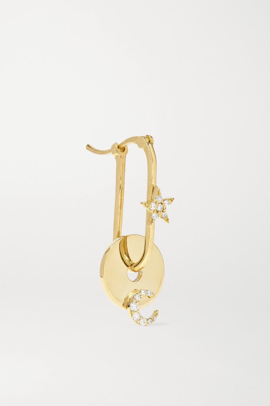 Foundrae Ohrring aus 18Karat Gold mit Diamanten