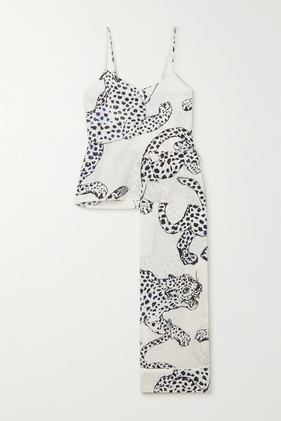 Desmond & Dempsey Pyjama aus bedruckter Biobaumwolle