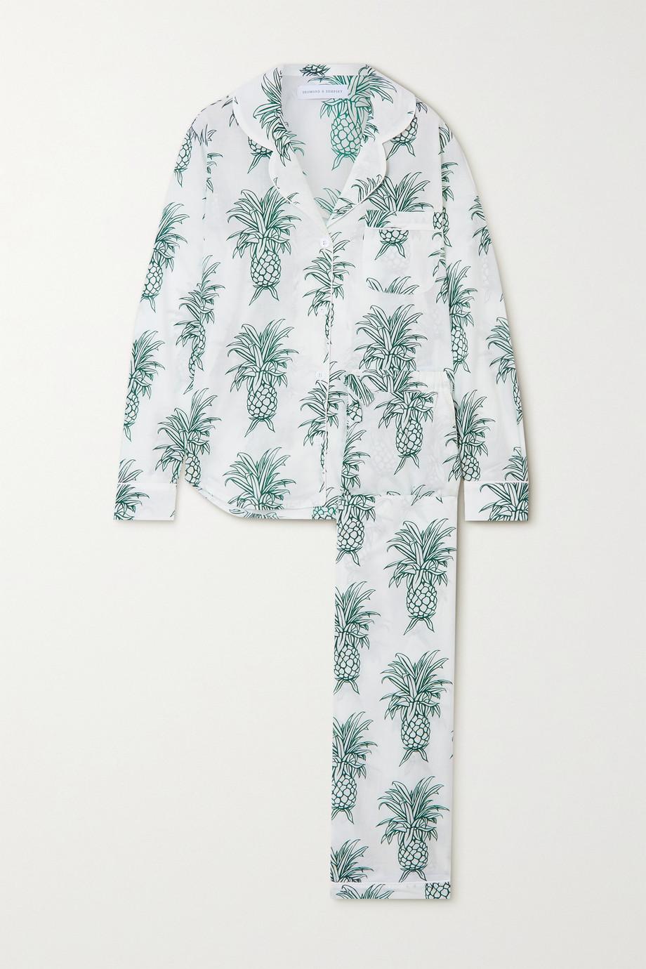Desmond & Dempsey Howie bedruckter Pyjama aus Biobaumwolle