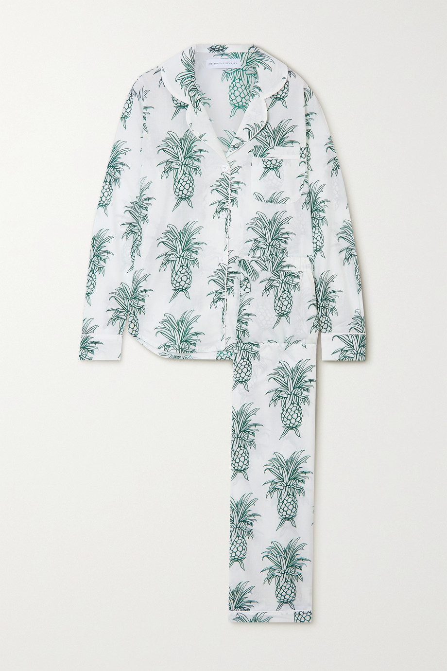 Desmond & Dempsey Howie printed organic cotton pajama set