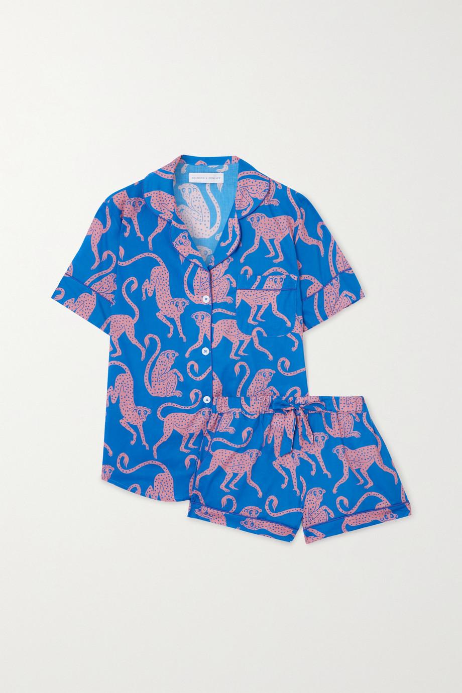 Desmond & Dempsey Chango Pyjama aus Biobaumwolle mit Print