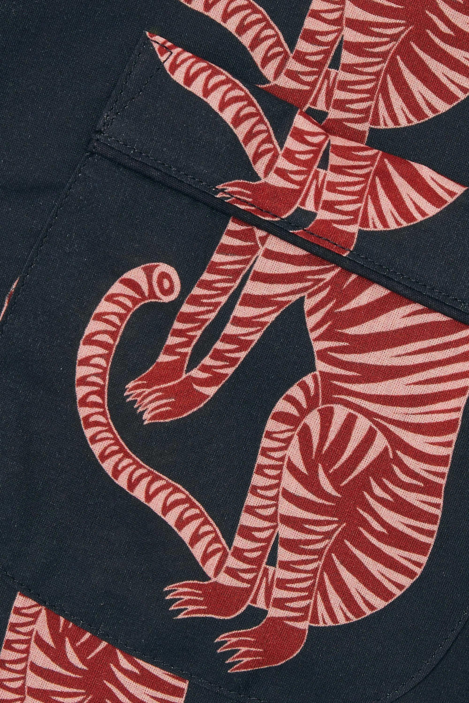 Desmond & Dempsey Tiger printed organic cotton pajama set