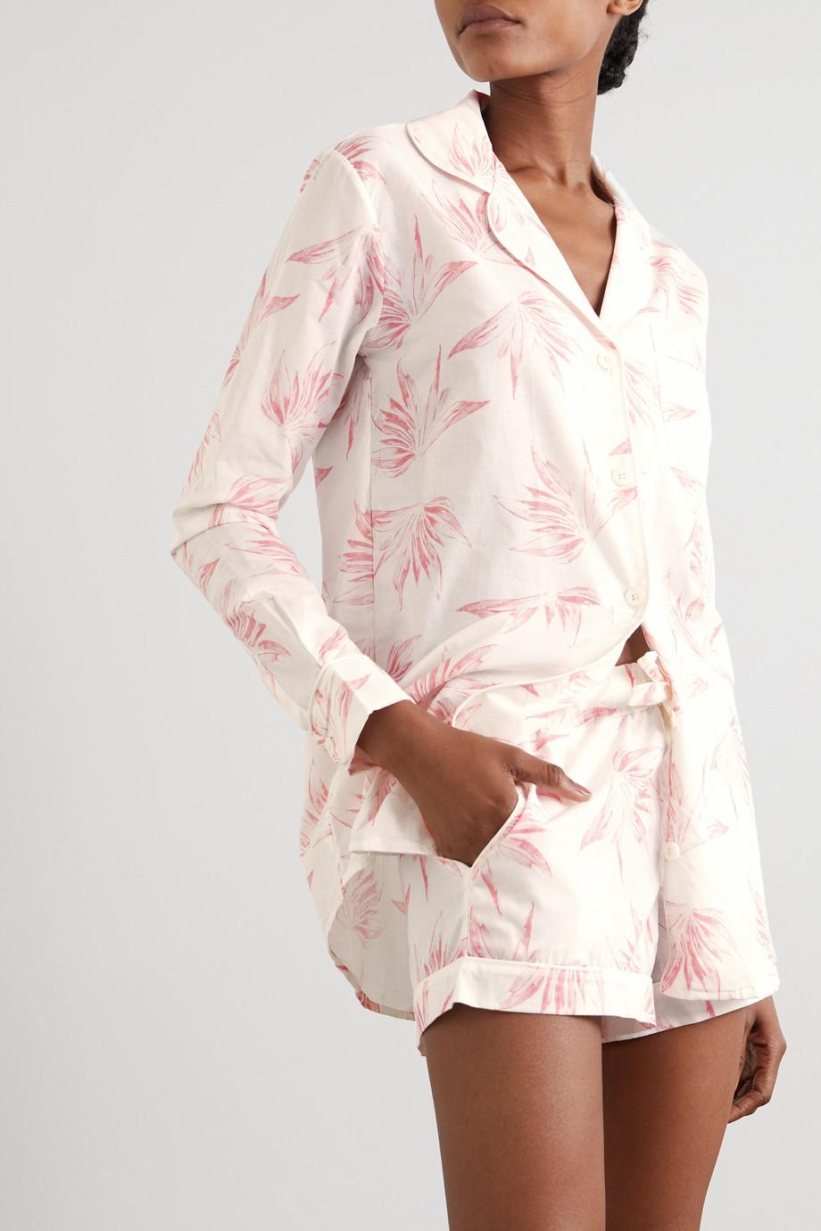 Desmond & Dempsey Deia 印花有机纯棉睡衣套装