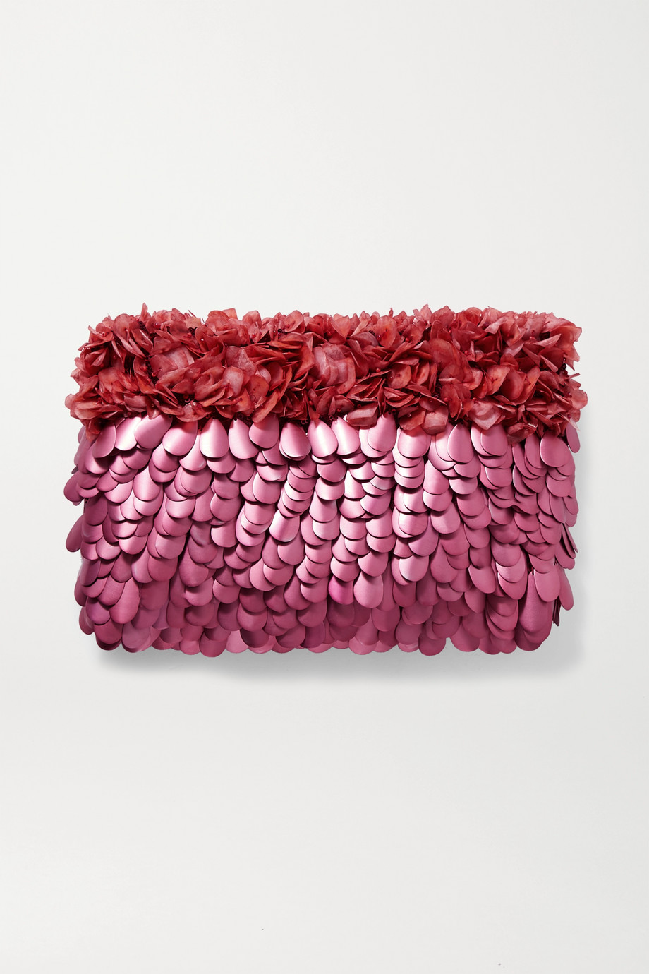 Nannacay Mazzy embellished tulle clutch