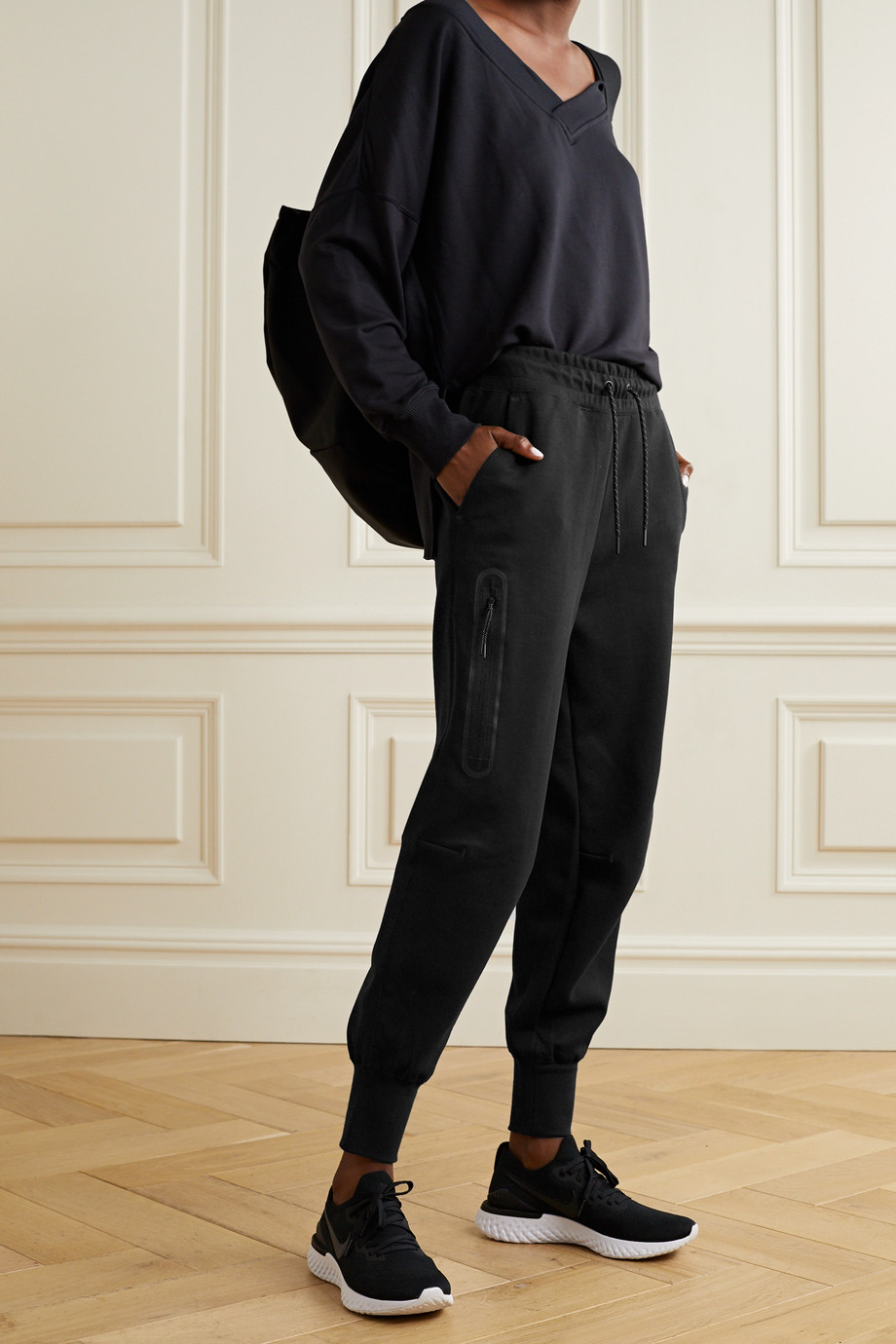 Nike Cotton-blend jersey track pants