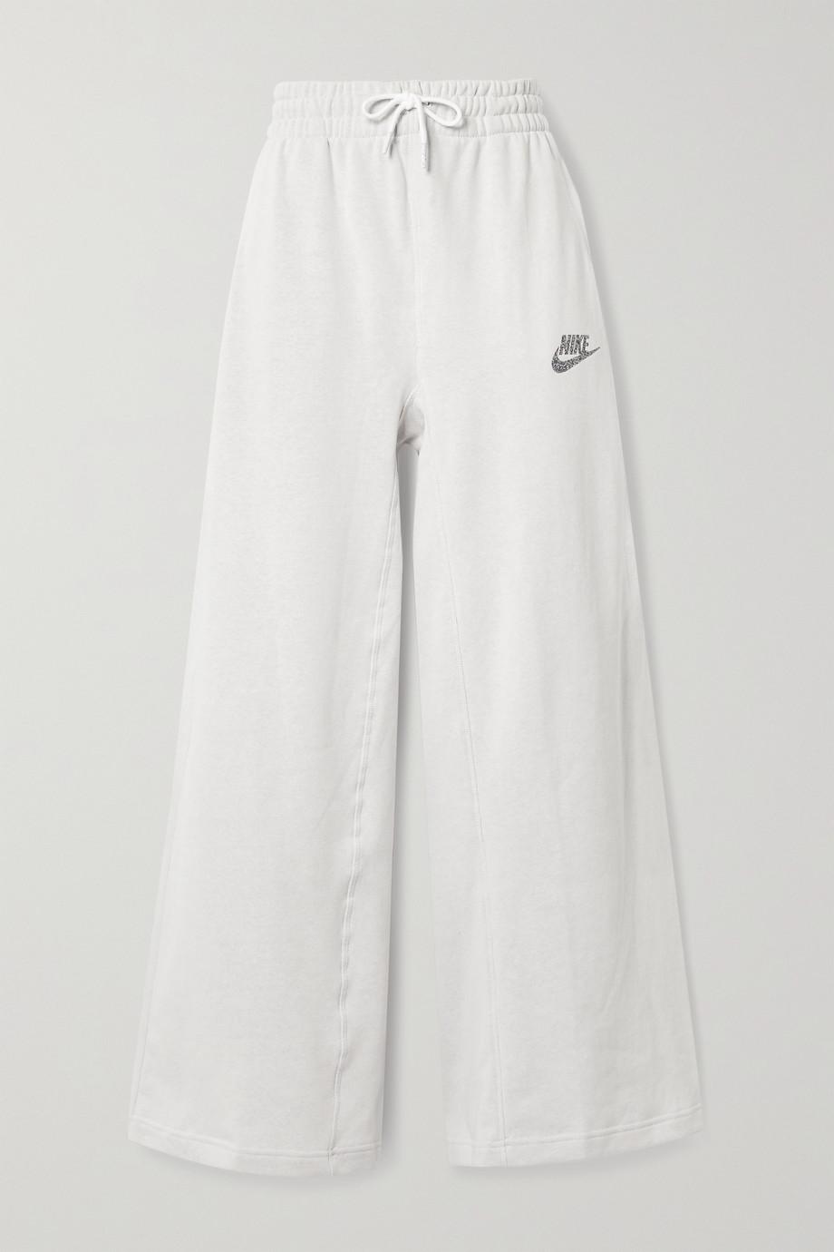 Nike Sportswear cotton-blend jersey wide-leg track pants