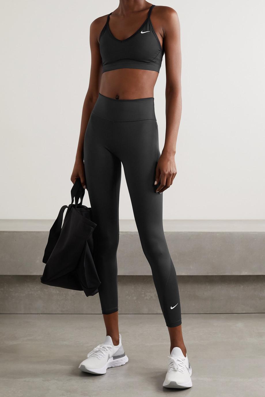 Nike One mesh-trimmed Dri-FIT leggings