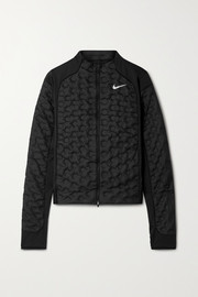 Nike Aeroloft stretch jersey-trimmed shell down jacket