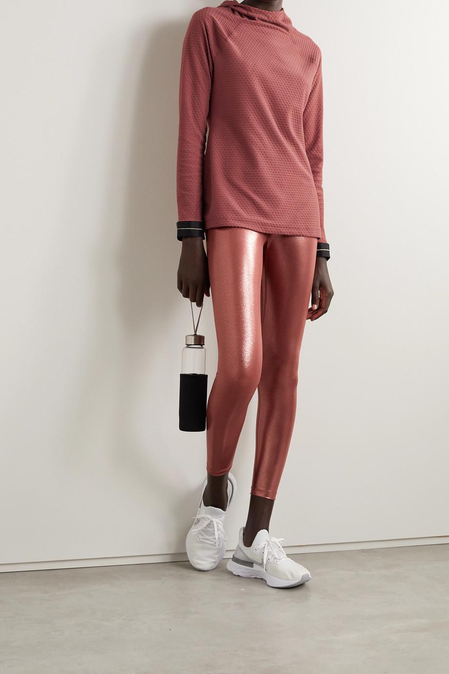 Nike Icon Clash cropped metallic Dri-FIT leggings