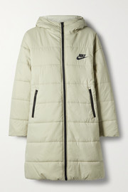 Nike Appliquéd quilted padded shell parka