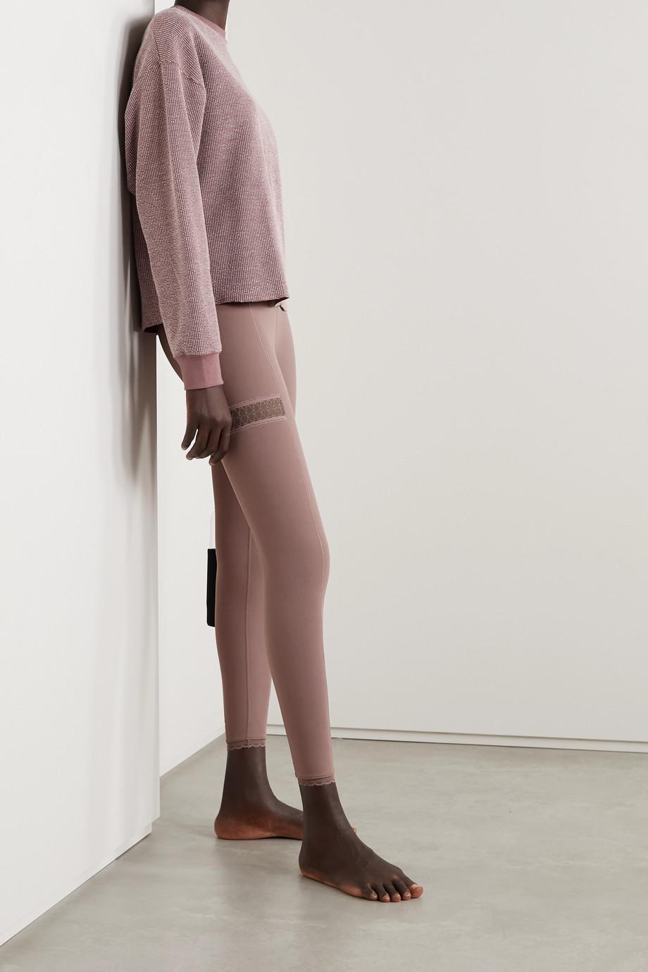 Nike Yoga Infinalon lace-trimmed Dri-FIT leggings