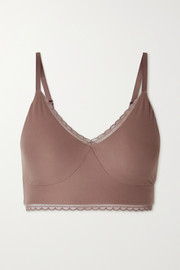 Nike Indy Luxe stretch lace-trimmed Dri-FIT sports bra