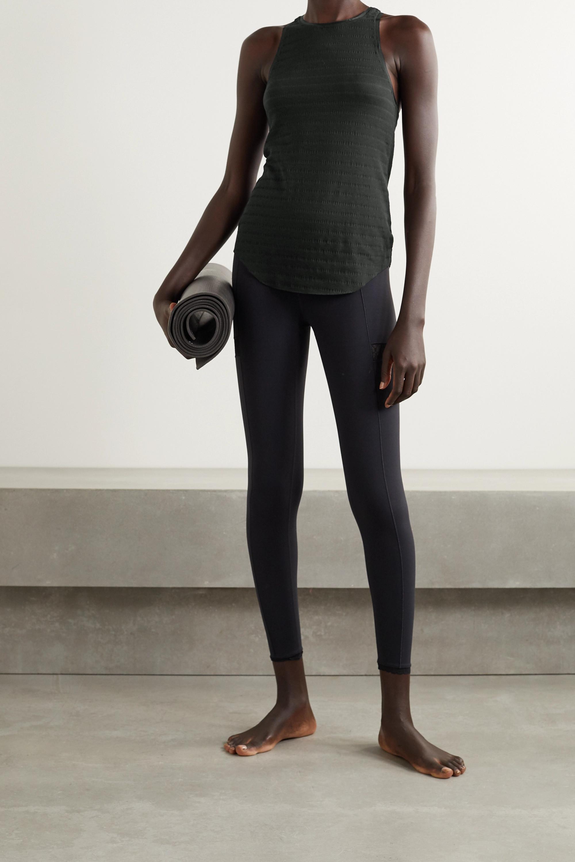 Nike Yoga grosgrain-trimmed ribbed Dri-FIT tank