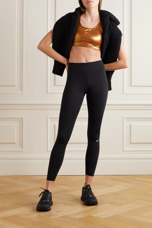 Nike Icon Clash cutout metallic stretch sports bra