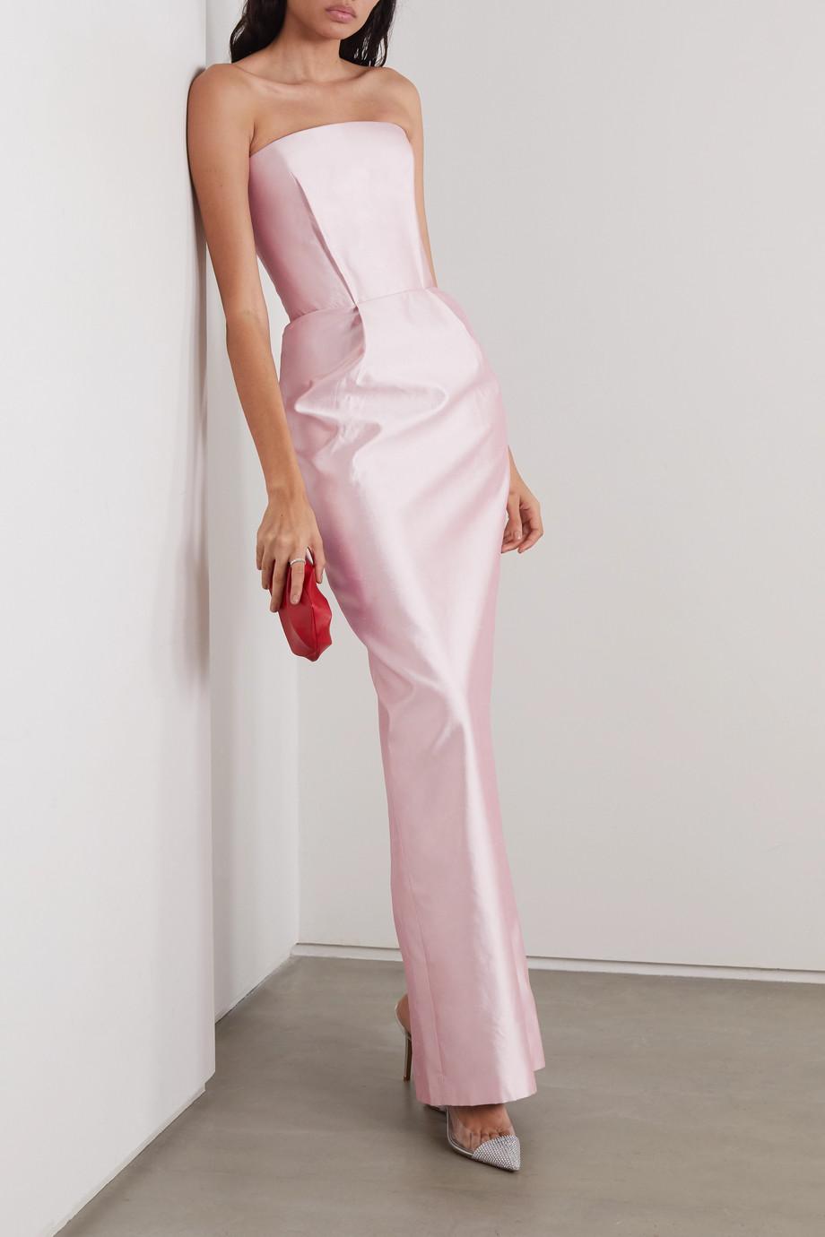 RASARIO Trägerlose Robe aus Duchesse-Seidensatin