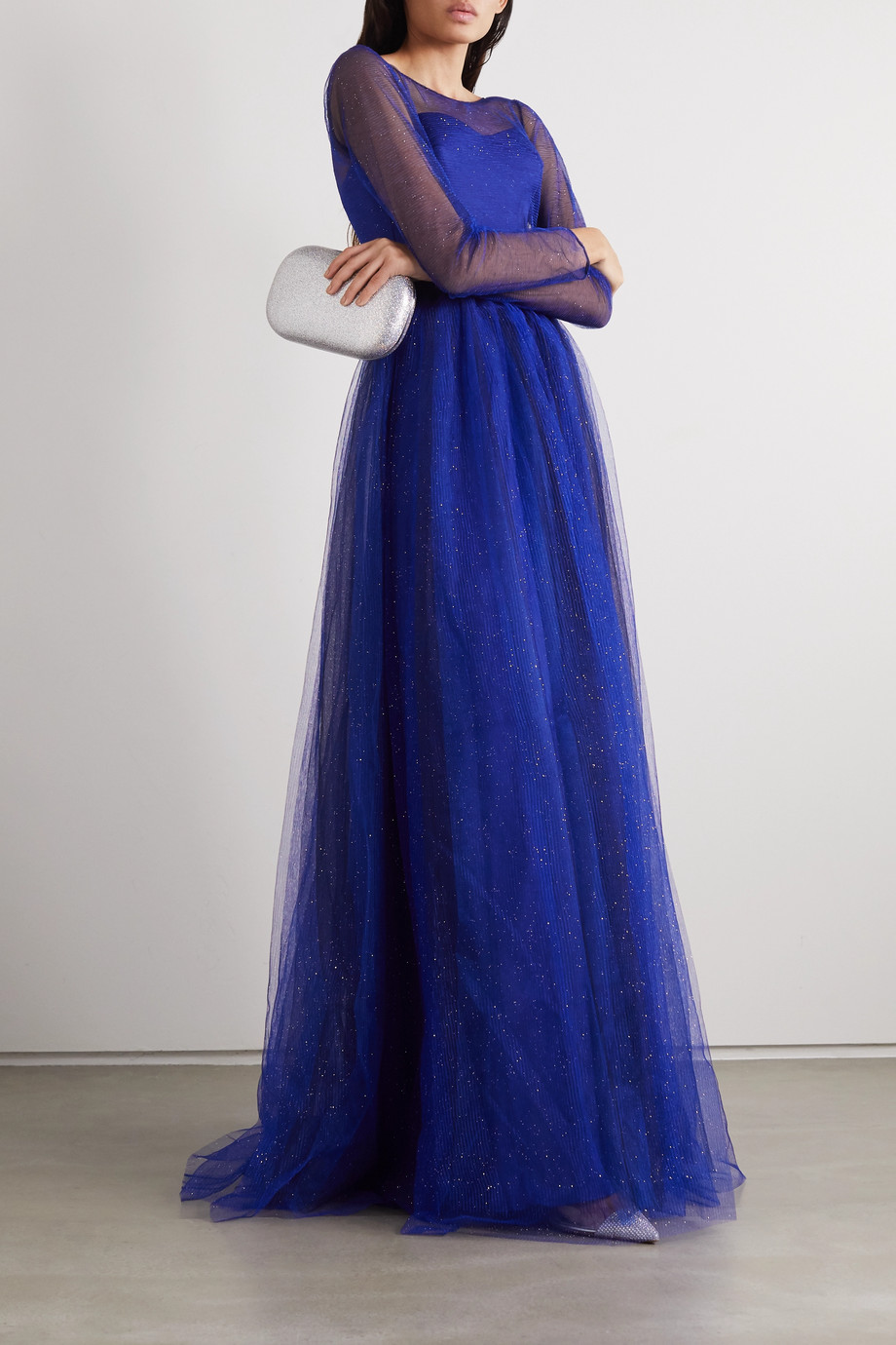 RASARIO Glittered tulle gown