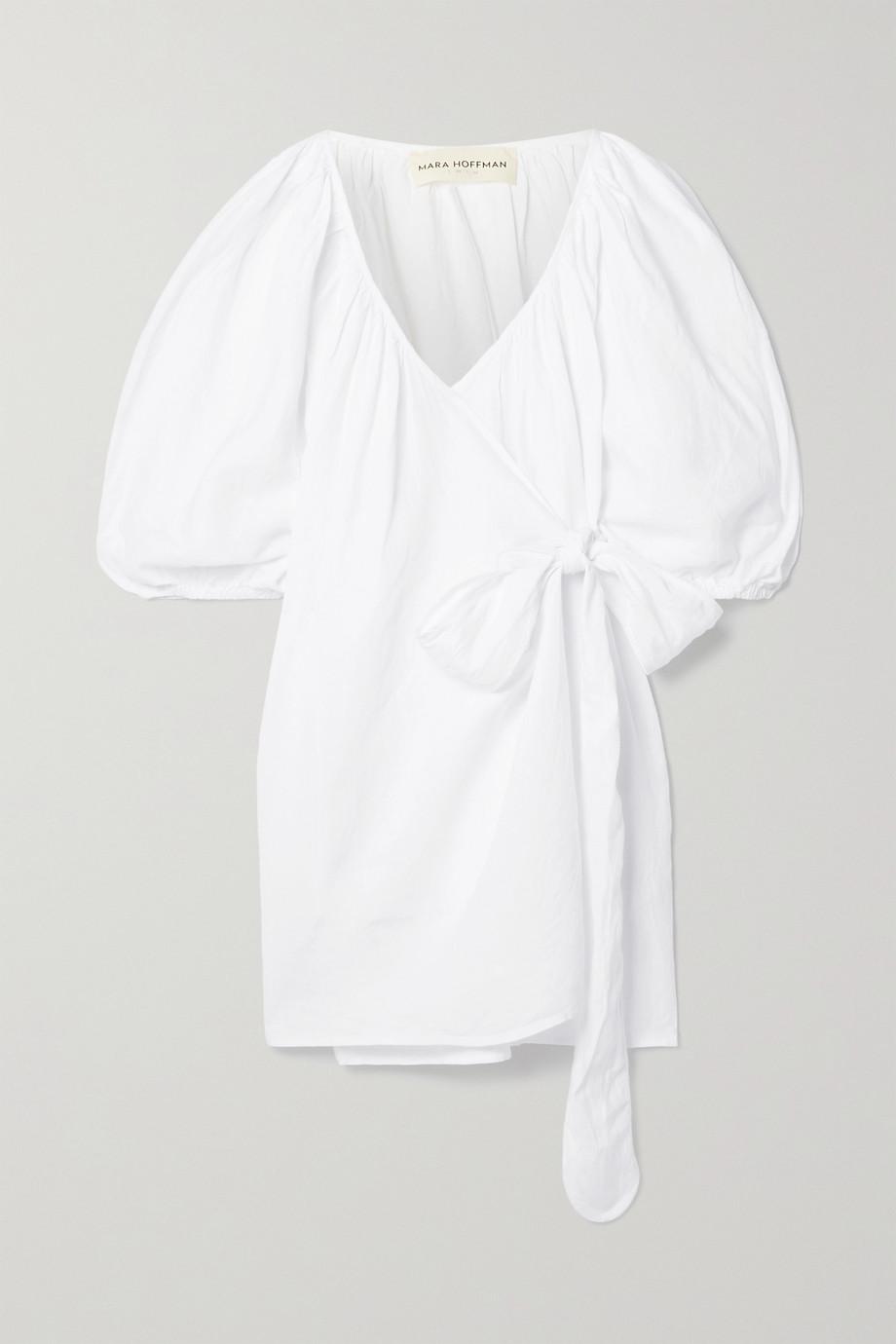 Mara Hoffman Coletta linen mini wrap dress