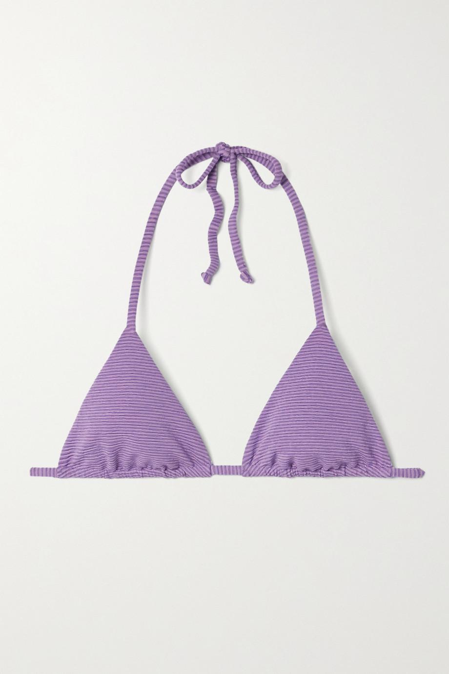 Mara Hoffman Rae striped bikini top