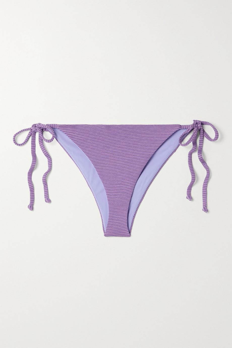 Mara Hoffman Lei striped bikini briefs