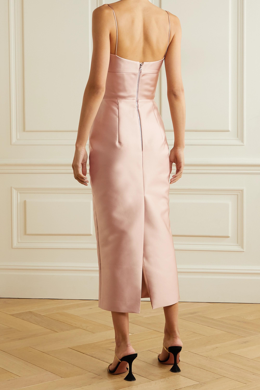 RASARIO Duchesse-satin midi dress