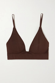 Dodo Bar Or Willa ribbed silk soft-cup bra