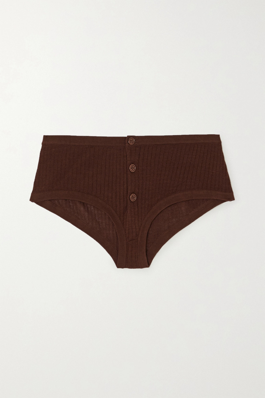 Dodo Bar Or Kelly ribbed silk briefs