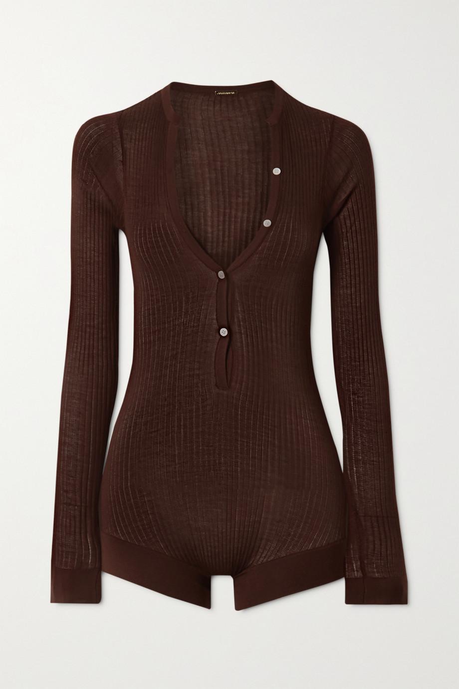 Dodo Bar Or Ribbed silk bodysuit