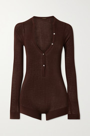 Dodo Bar Or Ribbed silk bodysuit