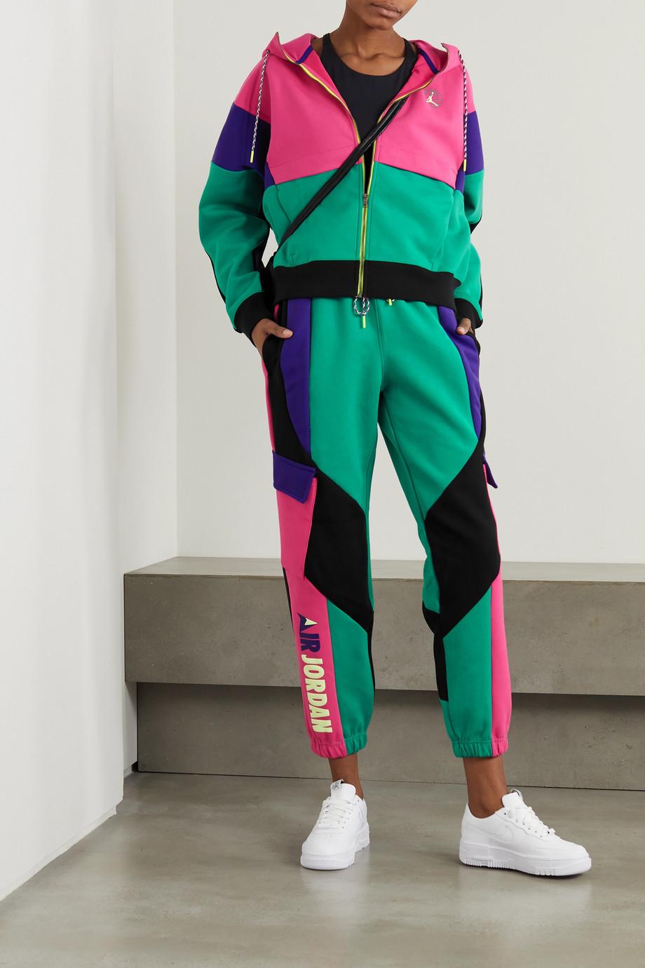 Nike Color-block paneled jersey hoodie