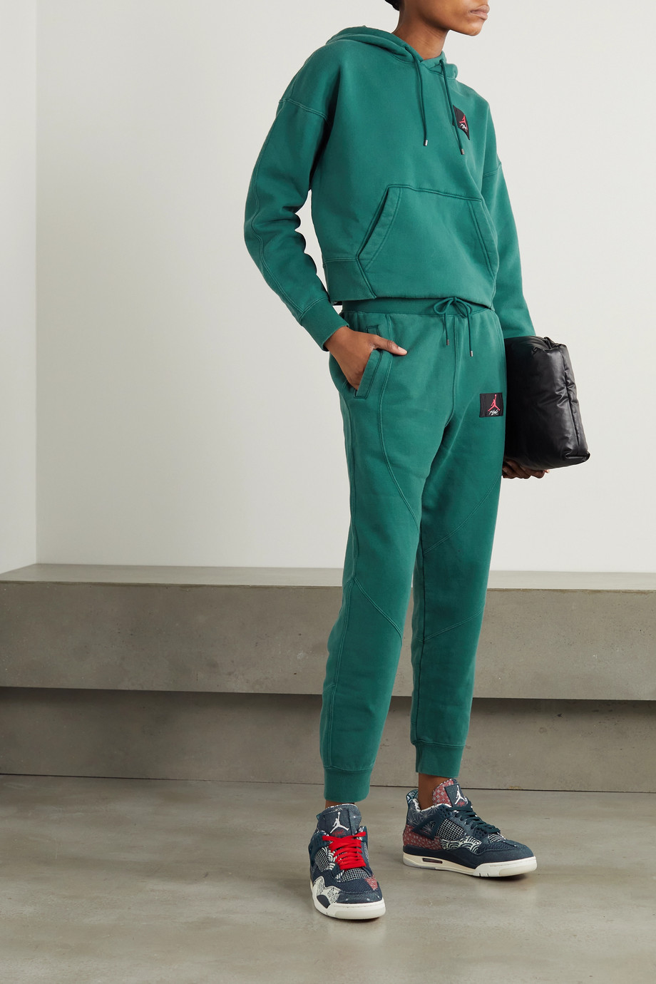 Nike Flight appliquéd cotton-blend jersey track pants
