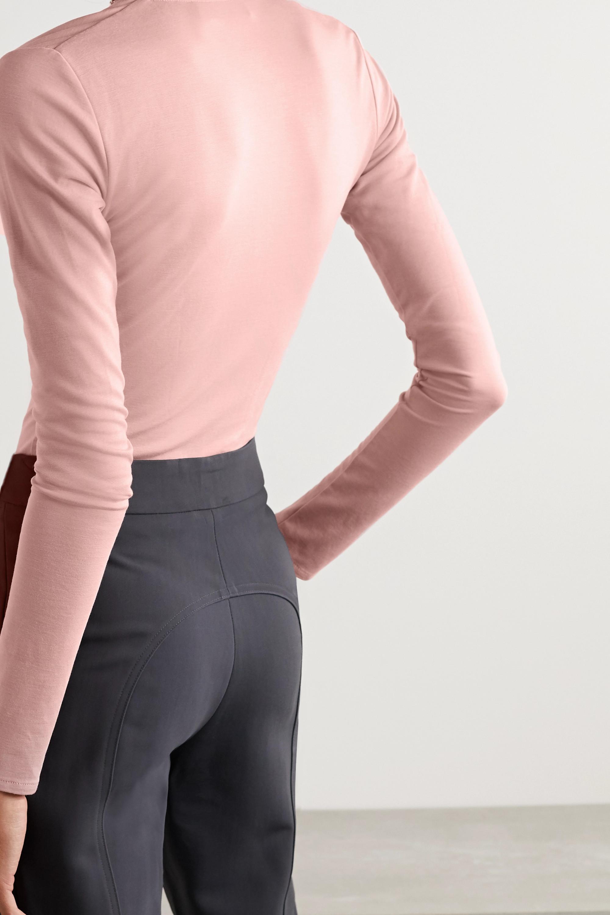 Fleur du Mal Stretch-cotton jersey thong bodysuit