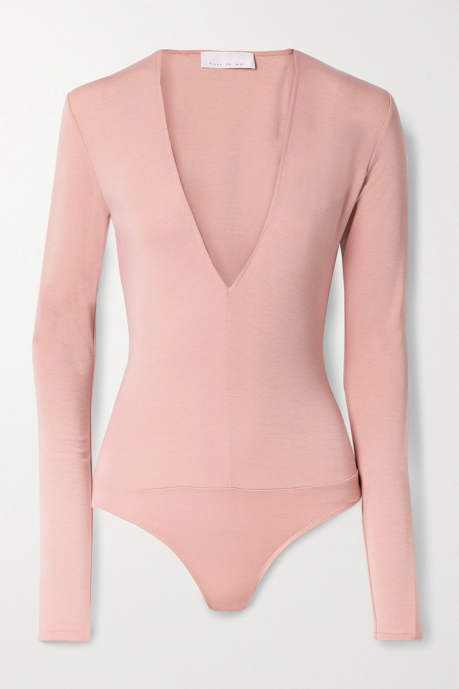 Fleur du Mal Stretch-cotton jersey thong bodysuit