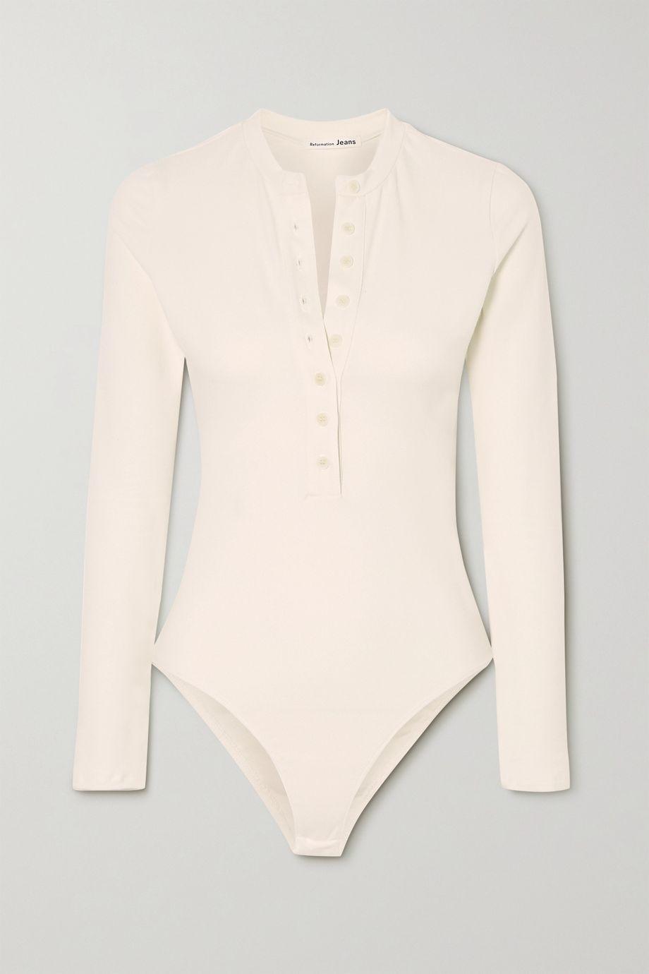Reformation Nisa stretch organic cotton bodysuit