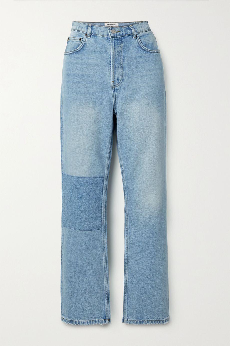 Reformation Patch Cynthia organic high-rise straight-leg jeans