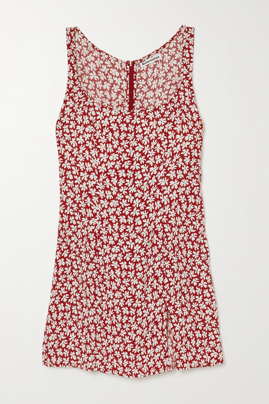 Reformation Noha floral-print crepe mini dress